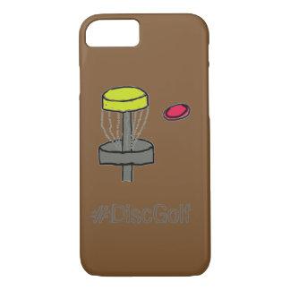 Coque iPhone 8/7 L'iPhone 7, golf de brun de #DiscGolf de disque du
