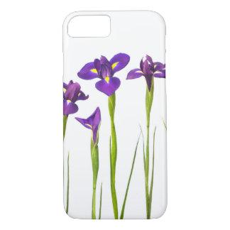 Coque iPhone 8/7 L'iris coloré de fleur pourpre d'iris fleurit