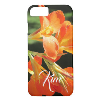 Coque iPhone 8/7 Lis de Canna orange lumineux