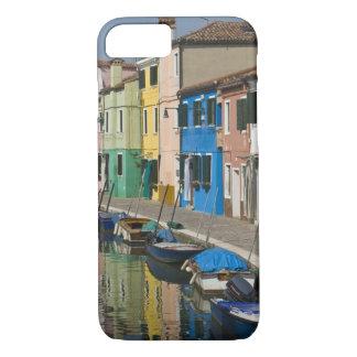 Coque iPhone 8/7 L'Italie, Venise, Burano. Maisons multicolores le