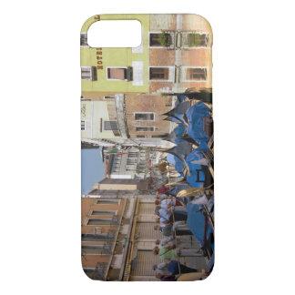 Coque iPhone 8/7 L'Italie, Venise, gondoles a amarré le long du