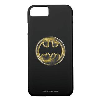 Coque iPhone 8/7 Logo 2 d'or du symbole | de Batman