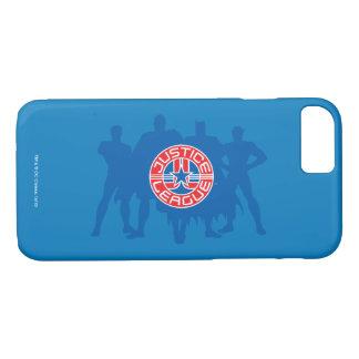 Coque iPhone 8/7 Logo de ligue de justice et arrière - plan solide