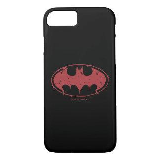 Coque iPhone 8/7 Logo de suintement de batte rouge de Batman |