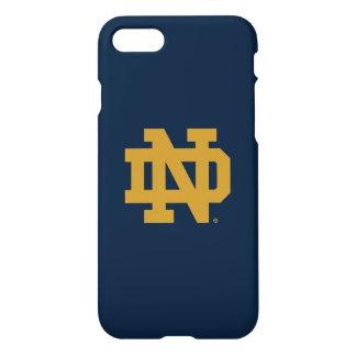 Coque iPhone 8/7 Logo d'emblème de Notre Dame |