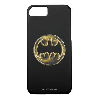 Coque iPhone 8/7 Logo d'or du symbole | de Batman