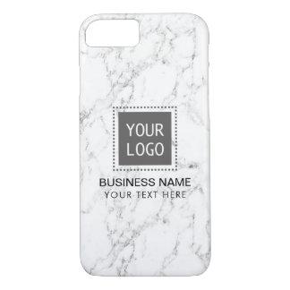 Coque iPhone 8/7 Logo fait sur commande d'entreprise de marbre