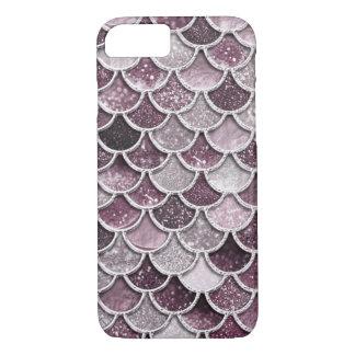 Coque iPhone 8/7 L'or rose rougissent des échelles de sirène de