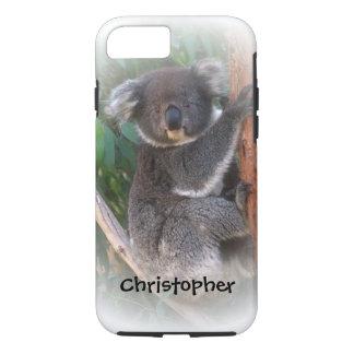 Coque iPhone 8/7 L'ours de koala ajoutent juste le nom