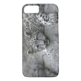 Coque iPhone 8/7 L'petit animal de léopard de neige de bébé de 4