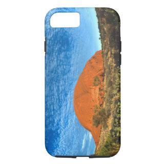 Coque iPhone 8/7 Lueur rouge de la roche célèbre d'Ayers dans