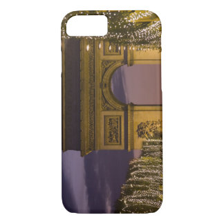 Coque iPhone 8/7 Lumières de Noël, champions Elysees, arc De
