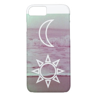 Coque iPhone 8/7 Lune et cas de l'iPhone 7 de conception de Sun à