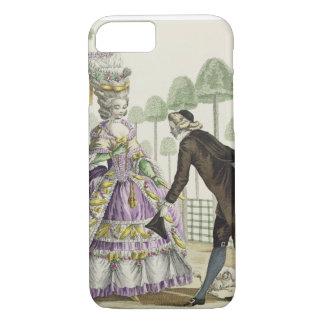 Coque iPhone 8/7 Madame dans des promenades lilas d'une robe dans