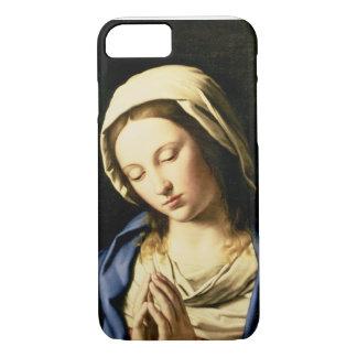 Coque iPhone 8/7 Madonna à la prière (huile sur la toile)