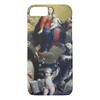 Coque iPhone 8/7 Madonna du chapelet avec solides solubles
