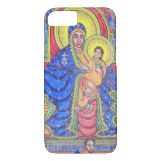 Coque iPhone 8/7 Madonna et cas éthiopien de l'iPhone 7 d'art de