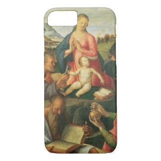 Coque iPhone 8/7 Madonna et enfant avec des solides solubles.