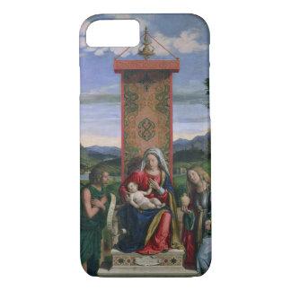 Coque iPhone 8/7 Madonna et enfant avec St John le baptiste et mA