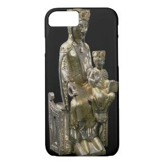 Coque iPhone 8/7 Madonna et enfant couronnés, statuette, Français,