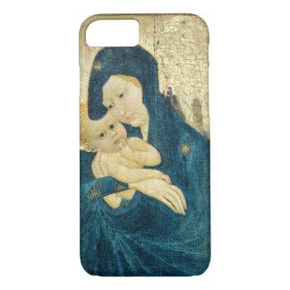 Coque iPhone 8/7 Madonna et enfant, école de la Bourgogne (huile