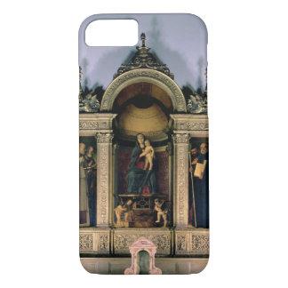 Coque iPhone 8/7 Madonna et enfant et saints (retable de triptyque)