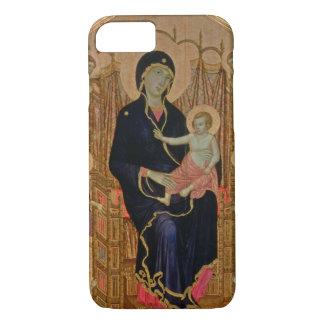 Coque iPhone 8/7 Madonna et enfant (Rucellai Madonna) 1285 (tempera