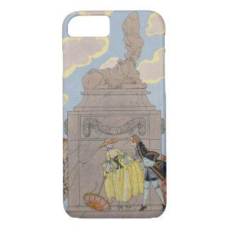 """Coque iPhone 8/7 Mandoline, illustration pour des """"fêtes Galantes"""""""