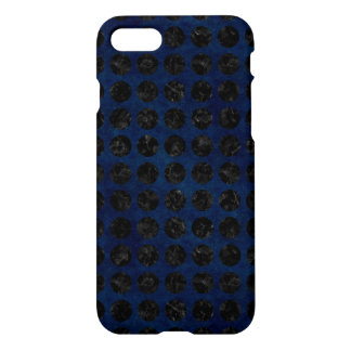 COQUE iPhone 8/7 MARBRE CIRCLES1 NOIR ET DENIM BLEU (R)