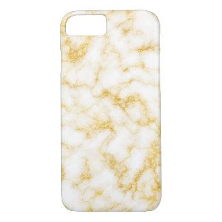 Coque iPhone 8/7 Marbre élégant - blanc d'or