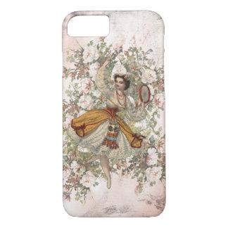 Coque iPhone 8/7 Mélange floral gitan et match de danse vintage