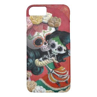 Coque iPhone 8/7 Mère et fille de Dia de Los Muertos Skeletons