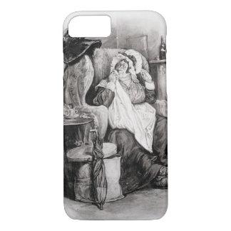 Coque iPhone 8/7 Mme Gamp, de 'Charles Dickens : Un bavardage au