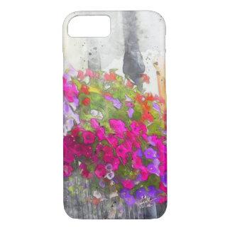 Coque iPhone 8/7 Moderne élégant d'aquarelle assez florale chic
