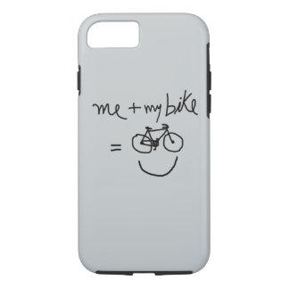 Coque iPhone 8/7 moi et mon vélo = bonheur