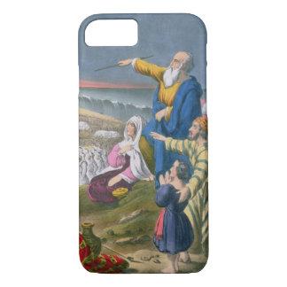 Coque iPhone 8/7 Moïse séparant la Mer Rouge, d'une bible imprimée