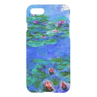 Coque iPhone 8/7 Monet - nénuphars (rouges)