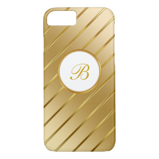 Coque iPhone 8/7 Monogramme chic d'or