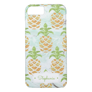 Coque iPhone 8/7 Monogramme | de fruit tropical d'ananas