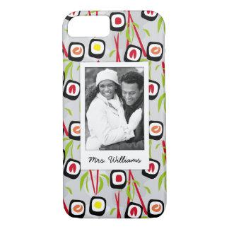 Coque iPhone 8/7 Monogramme du motif | de conception de sushi