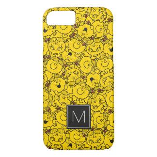 Coque iPhone 8/7 Monogramme du motif | de sourires de jaune
