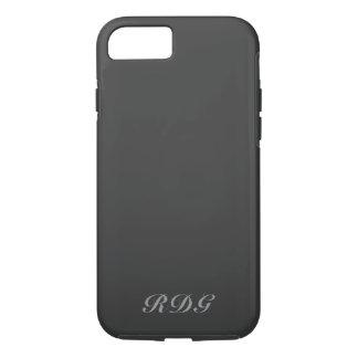 Coque iPhone 8/7 Monogramme gris-clair professionnel moderne