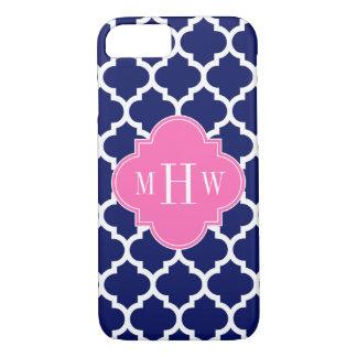 Coque iPhone 8/7 Monogramme Pink2 3 initial du Marocain #5 de