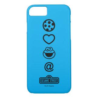 Coque iPhone 8/7 Monstre de biscuit d'amour de biscuit
