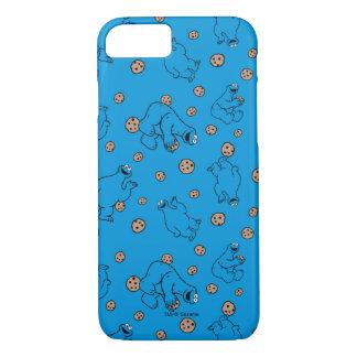 Coque iPhone 8/7 Monstre de biscuit et motif bleu de biscuits