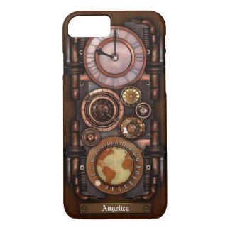 Coque iPhone 8/7 Montre vintage #1B de Steampunk