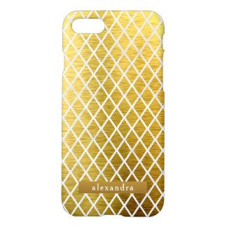 Coque iPhone 8/7 Motif à la mode de diamants d'or
