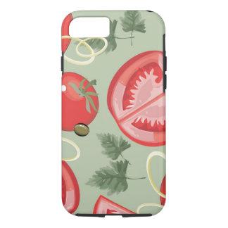 Coque iPhone 8/7 Motif abstrait avec la tomate