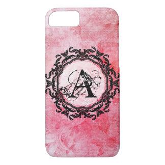 Coque iPhone 8/7 Motif chic de vieux rose rose romantique