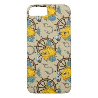 Coque iPhone 8/7 Motif de capitaine de la marine marchande poisson